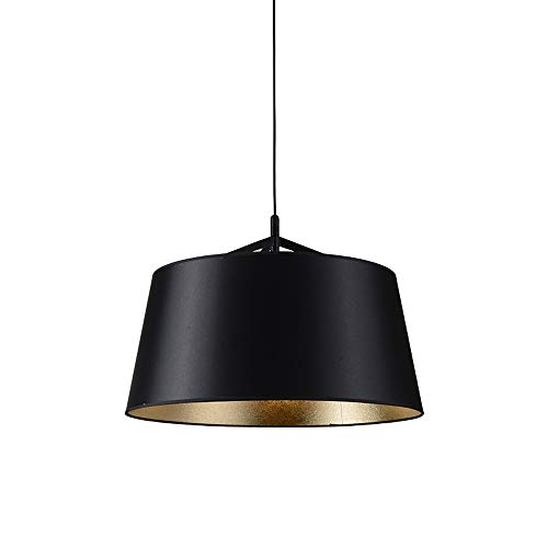 ZHUO Lámparas de tela nórdica, Minimalista moderno LED Negro Mesa de comedor Iluminación Araña de luces Lámparas de techo Café de moda Tienda de ropa Luz pendiente (Color : 42 * 33cm)