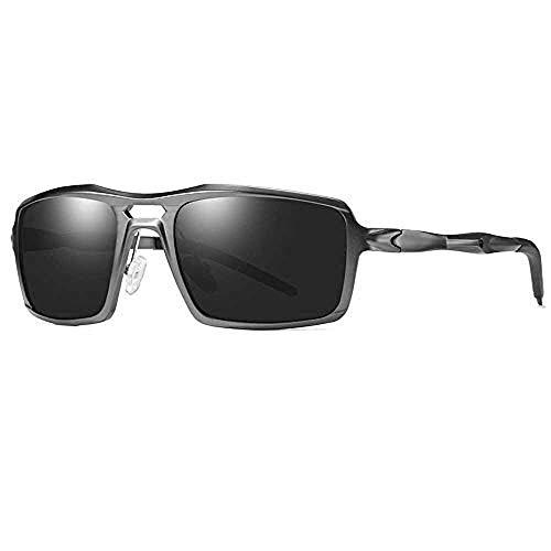 Nobrand Gafas de sol polarizadas de aluminio y magnesio gafas de sol deportivas hipster gafas de montar para hombres
