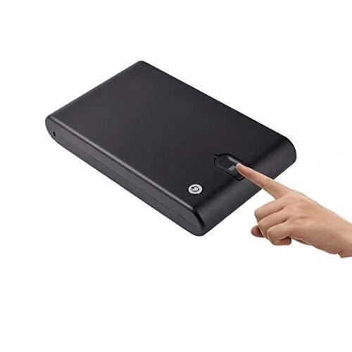 GYDSSH Caja de seguridad de la huella caja fuerte incombustible impermeable rectángulo del bloqueo de la pistola del arma Armarios efectivo Fuerte joyería sólida de seguridad de acero de almacenamient