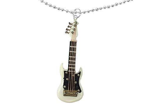 Miniblings electrica Guitarra Cadena Collar de 80cm Guitarrista músico Guitarrista + Caja...