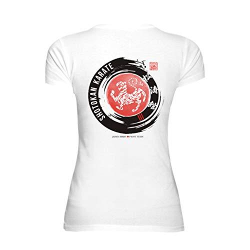 Dirty Ray Kampfsport Shotokan Karate Damen Kurzarm T-Shirt DT41D (XXL)