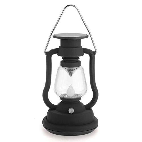 Luce Da Campeggio Lanterna A Energia Solare Lampada Antica A Luce 7 Lampada Da Giardino A Led Nera