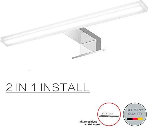 Lampada da specchio a LED Cywer IP44, 7W, 640 lm, per bagno, armadio, armadio, armadio, illuminazione a morsetto, luce da trucco, Cromo, 2020new