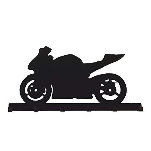 Bentatec Schlüsselbrett Motorrad Rennmaschine GSXR Optik schwarz Garderobe Schlüsselleiste Hakenleiste