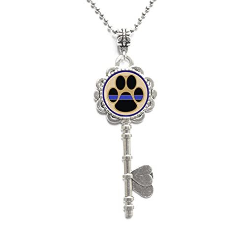 Collar de llave de línea, collar de llave de policía, collar de llave de oficial de policía, regalos de arte, para ella, para él, accesorios para hombres, para mujeres, N079