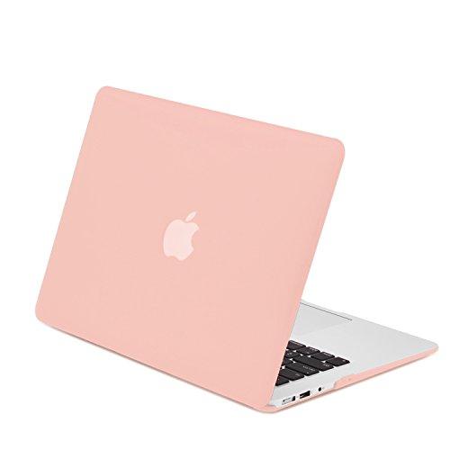 TOP CASE - Classic Series Rubberized Hard Case Compatible MacBook Air 11' (A1370 and A1465) - Rose Quartz