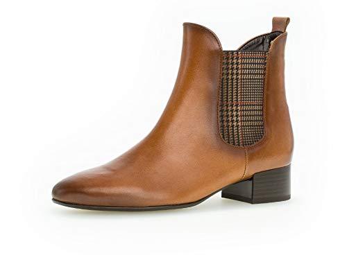 Gabor Damen Stiefelette 36.611, Frauen Chelsea Boots,Stiefel,Halbstiefel,Bootie,Schlupfstiefel,hoch,Whisky/EF (Micro),40 EU / 6.5 UK