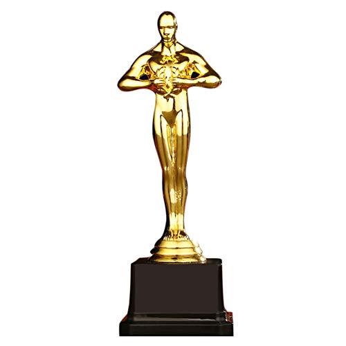 HSXQQL Estatuilla de Trofeo de Oro Trofeo Trofeos Estatuas Premio Oscar Premios de Recompensa para Ceremonia de Fiesta Regalo 3 Tamaño