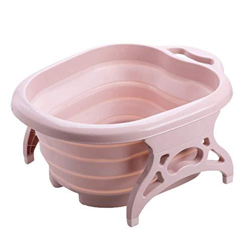 AIEK 足湯バケツ 折りたたみ フットバス フットマッサージャー 軽量収納便利 足の浴槽 家庭用 プレゼント どこでも足湯