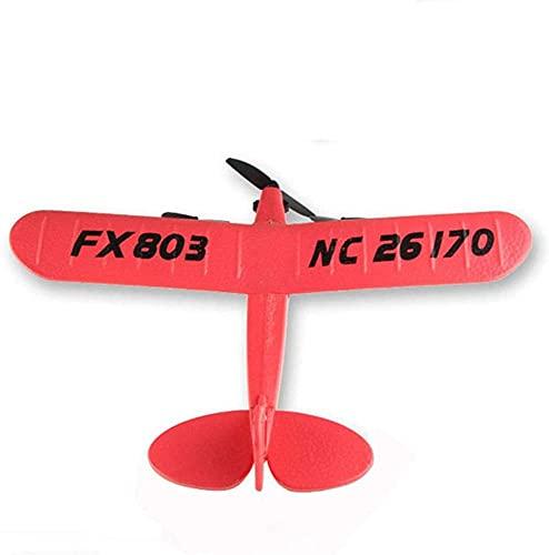 ZHANGDAGE Telecomando Aereo 2 Canali Bambino Ragazzo Elettrico Principiante Aliante 2.4GHz Quadcopter Simulazione Elicottero Modello di Navigazione Giocattolo Aereo Volo A Lungo Raggio Ricarica Aereo