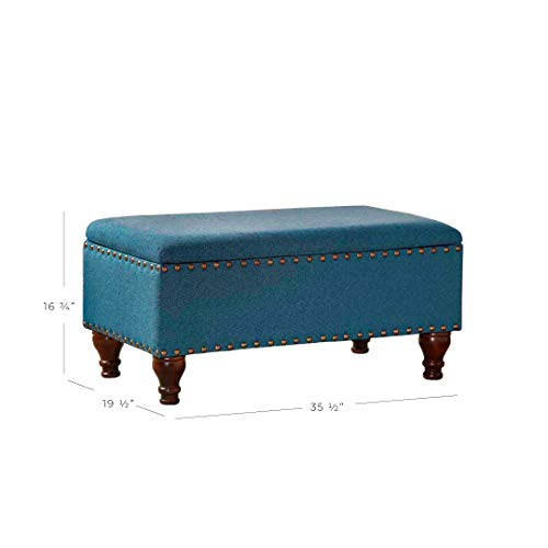 Kinfine-Linen-Storage-Bench-with-Nailhead-Trim-and-Hinged-Lid