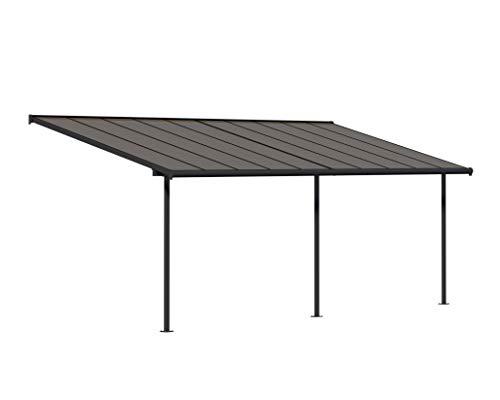 Palram Capri Terrassenüberdachung, Terrassendach, Balkondach, grau bronze, 299x619 cm