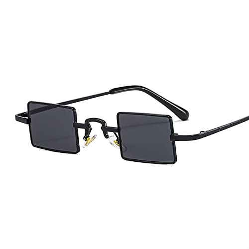 YSJJLRV Lentes de Sol Cuadrada Gafas de Sol Mujeres Hombres PC Lente Colorida Alloy Metal Marco de Lujo Diseñador de Lujo Rectángulo Fresco Gafas de Sol (Frame Color : Other, Lenses Color : C2)