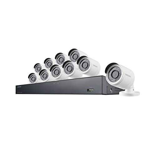 Samsung Wisenet SDH-C85101BF 16 Channel 4MP Super HD DVR Video Security System with 2TB ...