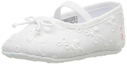 Polo Ralph Lauren Kids Baby-Girl's Allie Crib Shoe, White Eyelet, 3 M US Infant
