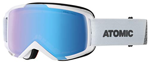 ATOMIC Unisex – Erwachsene Savor Photo Snowboardbrillen, Weiß/Blau Photochromic, One Size