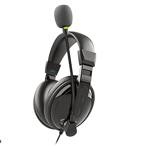 ZIXUAL Auriculares Limited Universal Headset USB Puede Agregar y restar Volumen Mute Auricular de Silencio Black