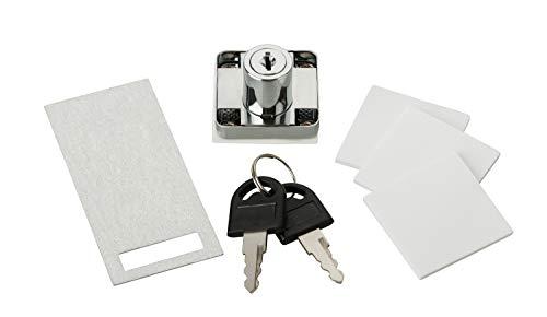 Serratura a posteriori per cassetti, autoadesiva, set di serrature per bloccare cassette, cassetti e scrivanie.