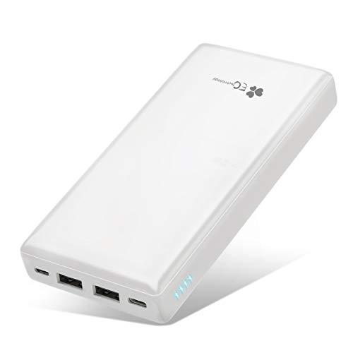 EC Technology Powerbank 26800mAh, Caricabatterie Portatile Cellulare Caricatore Cellulare Portatile Batteria Esterna Doppio Ingresso da 2,4 A (micro e tipo C) e 2 Uscite Compatibili con Gli Smartphone