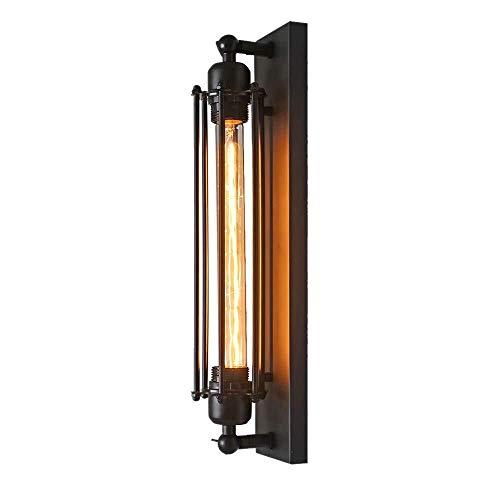 WY-YAN Lámpara de Pared del Pasillo, lámpara de Estilo Retro Industrial de la Vendimia, Pared del Hierro labrado de la lámpara E27 (Sin Incluye Bombilla) (1PCS)