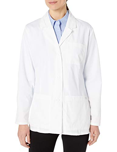 Dickies Women's 28 Inch Lab Coat, White, Small