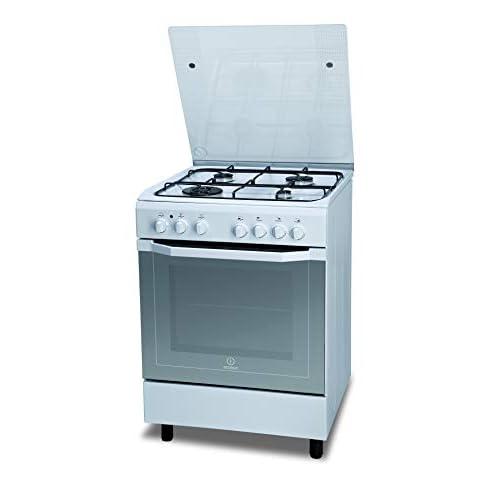 Indesit I6TMH2AF(W)/I, Cucina 60X60cm con Forno elettrico, a Libera Installazione, 4 Fuochi a gas