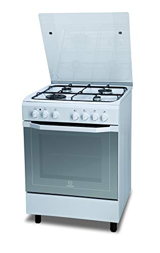 Indesit I6TMH2AF(W)/I Independiente Encimera de gas A Blanco - Cocina (Cocina independiente, Blanco, Giratorio, Frente, Encimera de gas, Medio)