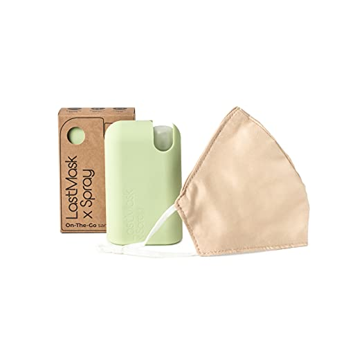 LastObject LastMask Masken Mundschutz & Sprühflasche Klein, Zero-Waste Masken Mundschutz Bunt, 3-Lagige Maske nach WHO-Richtlinien – Inklusive Zerstäuber Sprühflasche und BPA-Freier Maskenbox