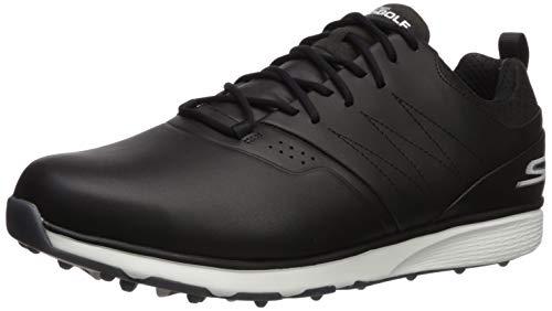 Skechers Men's Mojo Waterproof Golf Shoe, Black/Silver, 9 M US