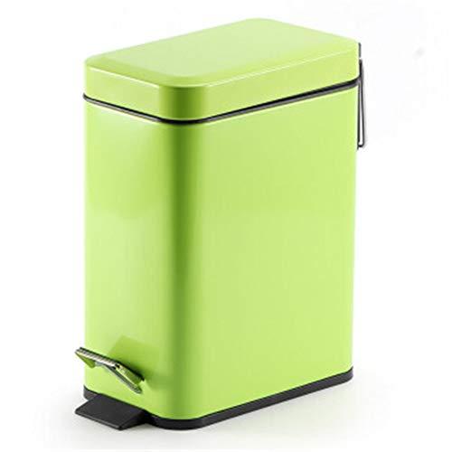 HoGau Maison Durable Keuken 5L capaciteit RVS stap afvalemmer met geurbescherming van vuilnisbak Het deksel past voor badkamer slaapkamer keukenkast lade kantoor