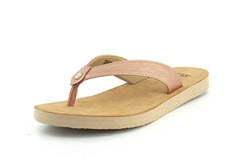 UGG Damen Tawney Metallic Sandale, Black, 38 EU