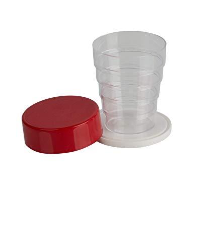 Kimmel - Vaso plegable, color rojo y transparente