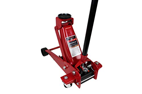 K Tool International 3 Ton Service Floor Jack; Heavy Duty