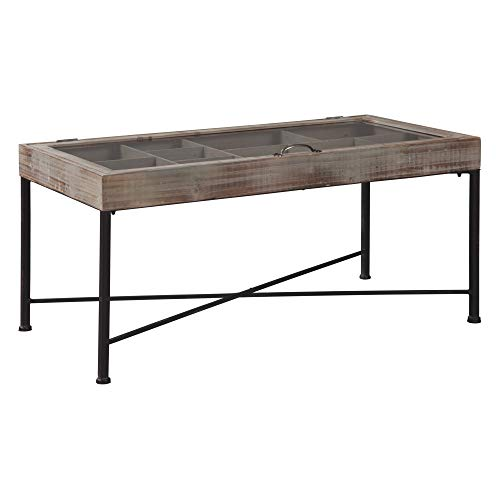 Signature Design by Ashley - Shellmond Accent Cocktail Table - Casual - Antique Gray/Black