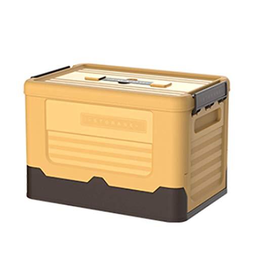 Caja De Almacenamiento Plegable con Tapa Y Asa, Cajas Plegables De Plástico para El Hogar, Maletero del Coche, Compras, Camping Y Transporte