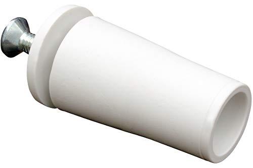 Schellenberg 10260Juego de 4tapones de plástico para persiana enrollable, blanco, 39mm
