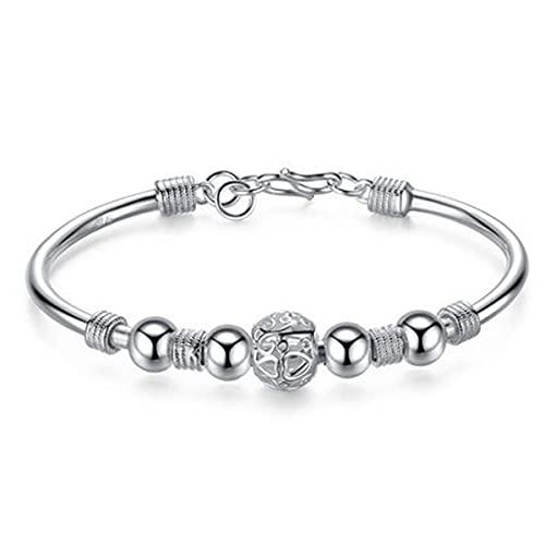 New Fashion Jewelry Classic New Solid Silver Buckle Bracelet Women Men's 925 Jewelry
