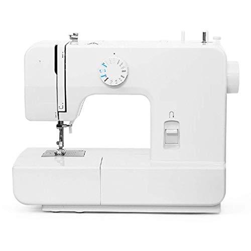 JJLL Punto de cadeneta, máquina de coser portátil con cortahilos automático for acolchado, sastrería, vestimenta y decoración del hogar