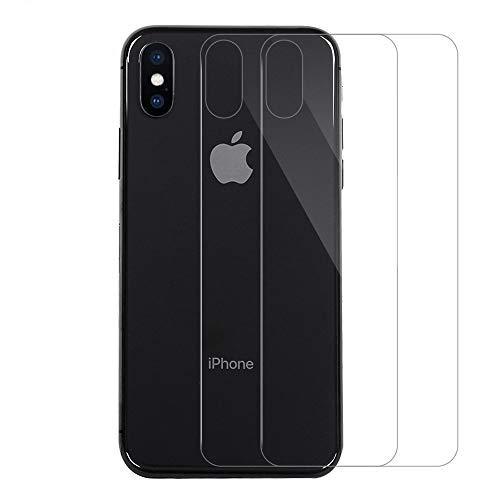 QULLOO Protector de Pantalla para iPhone X iPhone XS Protector de Pantalla Trasera de Vidrio, Productos de Singularity de Cobertura Completa Anti-Huellas Reemplazo de Carcasa para iphoneX XS