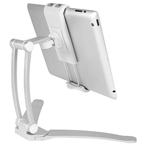 Macally macio Standwallmount Standwallmount 2-in-1Supporto da Parete e da appoggio/Supporto da Tavolo per Tablet/Smartphone Fino a (27,9cm)