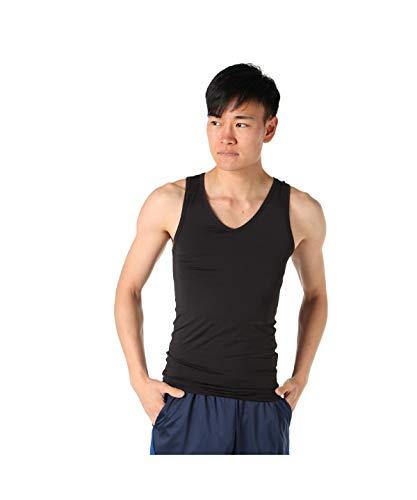 [ビジョンクエスト] アンダーウェア ノースリーブ ストレッチインナーシャツ VQ570412I01 BK M