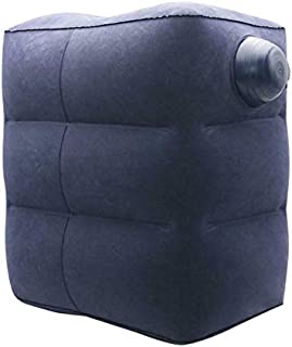 Inflatable Portable Travel Foot Leg Rest Pillow with Built-in air Pump for Travel,Office,Home,Train,car,Leg Support for To...