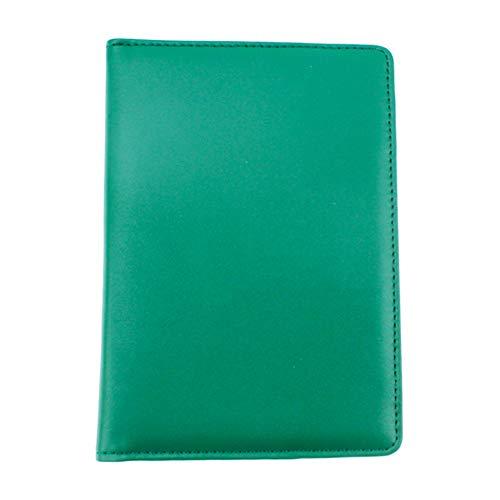 Crestgolf Porte-carte de pointage de Golf en cuir authentique vert avec 1crayon de score et...