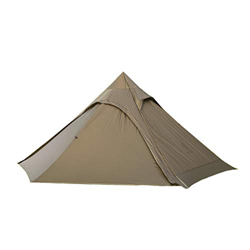 OneTigris TIPINOVA Teepee Camping Tent, 1180g, No Pole Included (Coyote Brown)