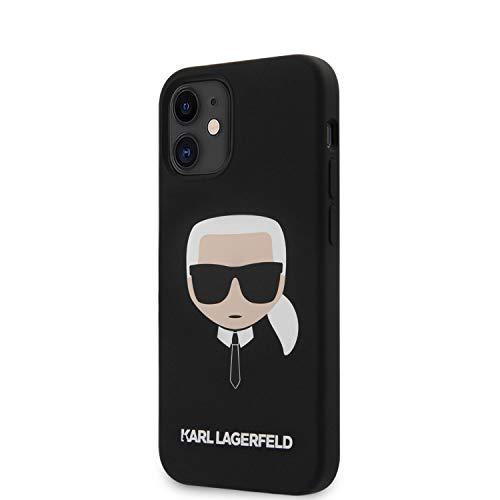Karl Lagerfeld Schutzhülle für iPhone 12 (flüssiges Silikon) Schwarz