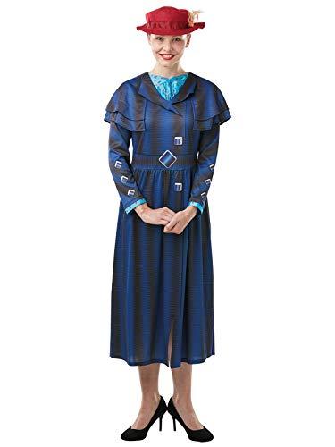 Rubies Disfraz oficial de Disney Mary Poppins de la película adultos, diseño de libro de la semana – talla grande, multicolor, L (820912L)