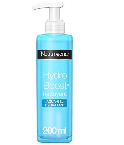 Neutrogena Hydro Boost Aqua-Gel Nettoyant Visage, Soin Visage Démaquillant et Hydratant, Pour Peaux Sèches, 1 Flacon Pompe de 200ml