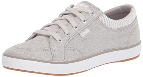 Keds womens Center Sneaker, Light Grey, 9.5 US