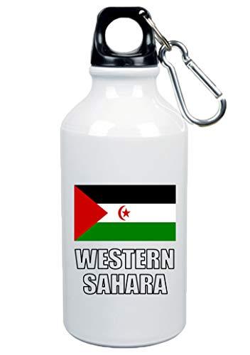 Tipolitografía Ghisleri botella Western Sahara bandera de 500 ml aluminio 234