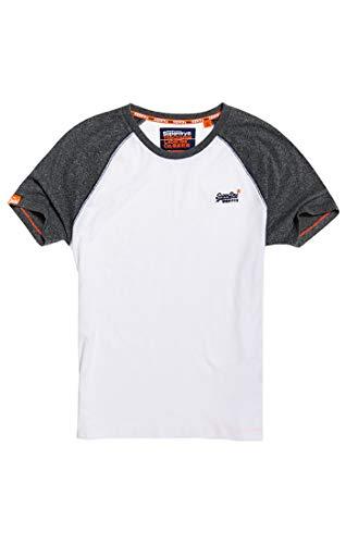 Superdry Herren ORANGE Label Baseball S/S Tee T-Shirt, Weiß (Optic 01C), XXL